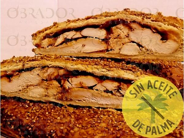 Empanada de pollo a la barbacoa sin aceite de palma